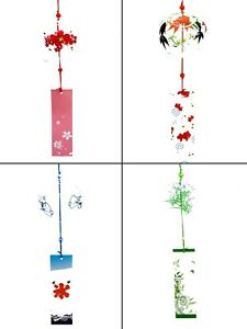 Japanese Edo Style Glass Hanging Wind Chimes Outdoor