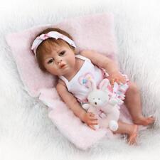 "23""Reborn Full Body Silicone Girl Baby Dolls Newborn Preemie Doll Babies Cheap"