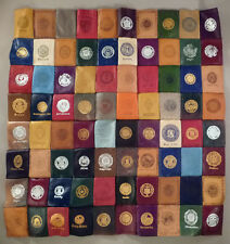 Cigarette Leather Patch Store Display - 80 different patches - circa 1900