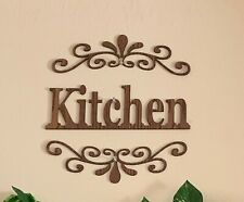 Two pieces elegant wood signs for Kitchen Wall Decoration