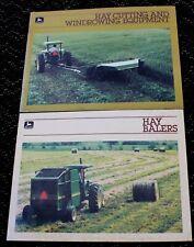 2 lot 1985 John Deere Dealer Brochures Hay Cutting Windrowing Equipment & Balers