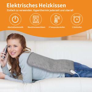 Heizkissen elektrisch 30 x 60 cm Wärmekissen Heizdecke Heizmatte Nacken Rücken