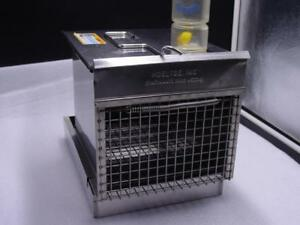 "Veterinarian Cage 9.75"" stainless crate by Hoeltge Cincinnti W Super Pet Bottle"
