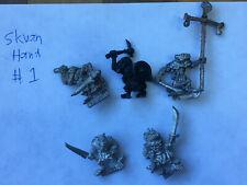 warhammer metal skaven with handweapons. Oop 80ies minis