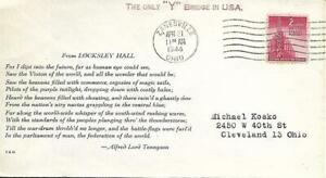 From Locksley Hall WW Two Patriotic Cover PM Zanesville OH April 21 1944