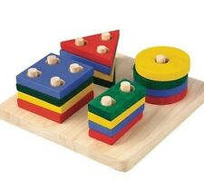 PLANTOYS Plan Toys Geometrisches Sortierbrett 2403