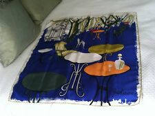 Ghislaine Geerts Macha Stunning Colorful Wearable Art Silk Scarf  Italy