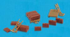 Luggages, Trolleys, Sack Trucks - N gauge accessories Model Scene 5174 free post