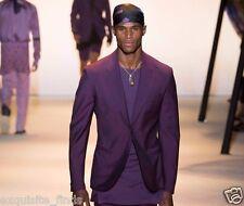 New VERSACE Purple Blazer Coat Jacket 50 - 40
