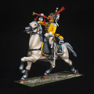 Tin soldier, Trumpeter of the 7th cuirassier regiment, Napoleonic Wars, 54 mm