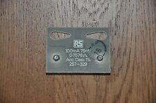 Ammeter Plate Shunt 100mA 75mV 0.7576ohm Radio spares 257-329. Shunt Resistance.
