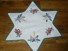 Alte  Weihnachtsdecke Sternform   37 cm / 37 cm Handarbeit  Shabby Chic Vintage