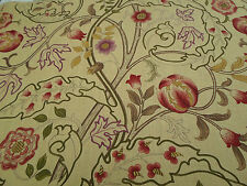 William Morris Curtain Fabric 'Mary Isobel' 3.45 METRES Red/Gold 100% Linen