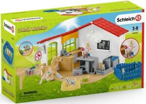 Schleich Veterinarian Practice With Pets - Animal Playset - New
