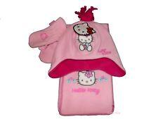 Gorro De Invierno Polar BNWT Hello Kitty Bufanda & Mitones Set 2-4 años