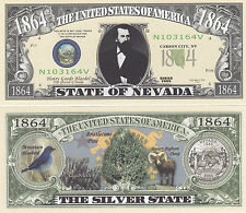 Two Nevada NV State Quarter Design Novelty Money Bills # 135