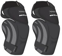 New Powertek V5.0 Barikad ice hockey goalie knee pad Sr sz thigh protector guard