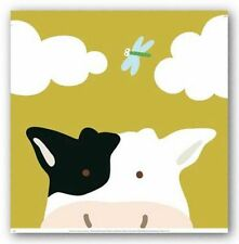 ANIMAL ART PRINT Peek a Boo III Cow Yuko Lau