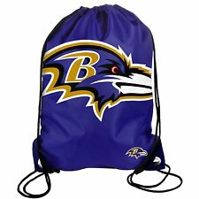 Baltimore Ravens Back Pack/Sack Drawstring Bag/Tote NEW Backpack BIG LOGO