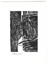 ANNA GRMELOVA: Exlibris für Emil Gebauer