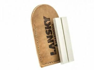 Lansky Double Sided Diamond Stone Pocket Size + Carrying Pouch #LDPST