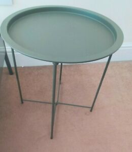 IKEA Randerup Table Round Steel Serving Side Table Home Furniture 46x50cm