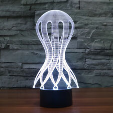 Jellyfish Illusion Bulbing 3D LED Night  Light 7 Color Touch Switch Desk Lamp