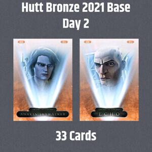 Topps Star Wars Card Trader Hutt Bronze 2021 Base Day 2 Set 33 Cards