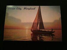Ocean City, Maryland, Boat, Water, Postcard