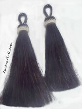 "Horsehair tassels black horse hair tassel 5 1/2"" jewelry bridles/tack  pair-2"