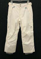 Mountain Hardwear Womens Sz M Off-White Nylon Ski Active Winter Dry Q Snow Pants