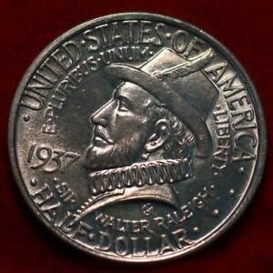 Uncirculated 1937 Philadelphia Mint Roanoke Island Silver Comm Half