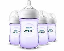 NEW Philips Avent Natural Baby Bottle Purple 9oz 4pk SCF013/43 FREE SHIPPING