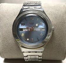 Men's Swatch Watch Irony Calendar Day Date Indicator Gentleman's Blue