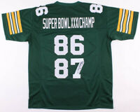 Robert Brooks Signed Green Bay Packers Super Bowl XXXI Champ Football Jersey COA