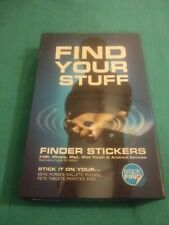 New listing Stick-N-Find Bluetooth Location Tracker with Key Fob, 2 Pack Find Your Stuff