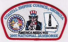 JSP - COASTAL EMPIRE COUNCIL - 2005 NATIONAL JAMBOREE - OVERSIZE