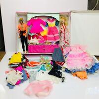 Vintage Barbie Double Doll Case 1968  With 80+ Ct Clothing plus Ken & Barbie
