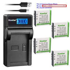 Kastar Battery LCD Charger for Fuji FNP-50 NP50 Fujifilm NP-50A Kodak KLIC-7004