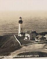 Vintage Postcard Yaquina Lighthouse, Oregon Coast USA P63
