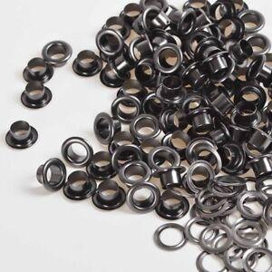 New 4/5/6/8/10/12/14/17mm Gunmetal Black Solid Brass Eyelet w/Grommets washer US