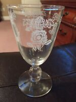 Glass Roses Vintage Bar Kitchen Smal EUC LOVELY FOOTED