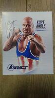 Kurt Angle 2016 Signed 8x10 Photo (WWE/IMPACT/TNA)
