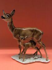 Hutschenreuther Porzellan figur Reh mit Kitz Achtziger 25cm Top