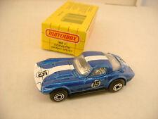 1989 MATCHBOX SUPERFAST MB 2 BLUE CORVETTE GRAND SPORT NEW IN BOX