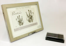 Me e mio fratello Ink Pad Mano Stampa Silver Photo Frame New Baby Shower REGALO 7x5