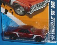 HOT WHEELS 67 Chevrolet Chevelle SS 396 Super Sport Muscle Mania 10/10 #110 1967