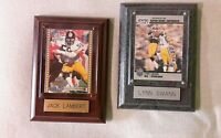 2 - NFL Pittsburgh Steelers Photos on Wooden Frames (Retired) Sports Memorabilia