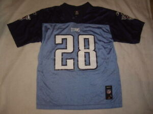 Reebok Chris Johnson #28 Tennessee Titans NFL Football Jersey Youth Size L 14-16