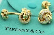 Tiffany & Co.18K Gold 2 ct Diamond Cufflinks Cuff Links LIMITED EDITION $10,000